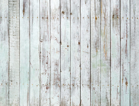 Vintage white painted wooden wall background photo