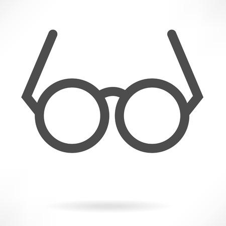 眼鏡符号ベクトル  イラスト・ベクター素材