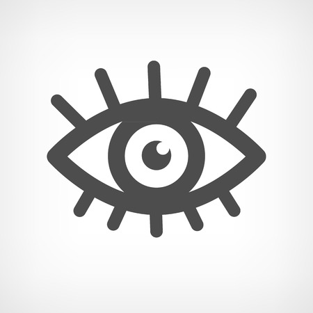 brows: Eye icon symbol sign with eyelashes in black colors Illustration