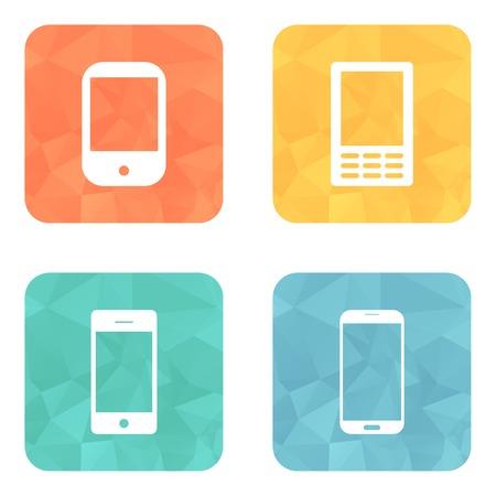 Ikony telefon ustawiony na jasny krąg przycisków.