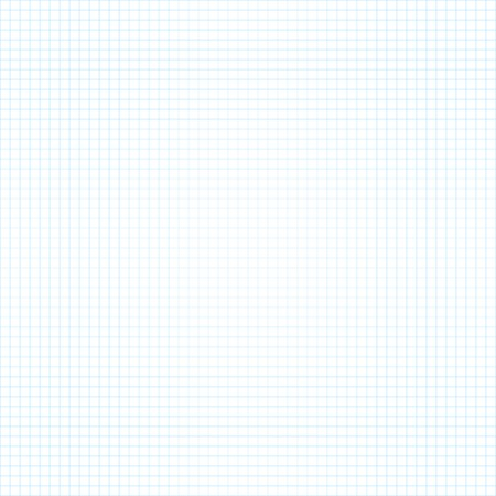 White squared paper seamless sheet texture, background Vector