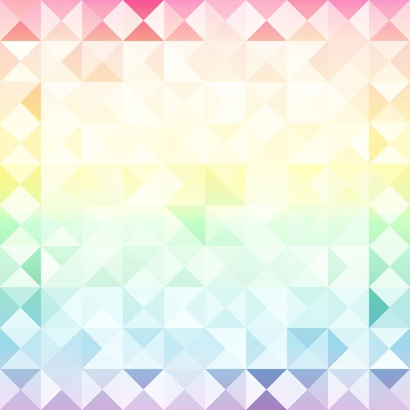 Vintage abstract seamless background from triangles with space for text Vector