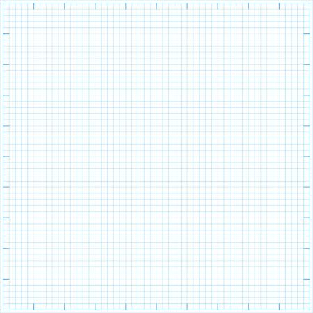 Square grid math paper background. Vector illustration.