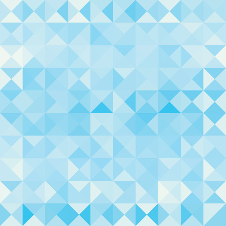 Retro pattern of blue geometric shapes. Colorful mosaic banner.