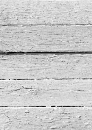 Close-up of white wooden plank texture Stock Photo