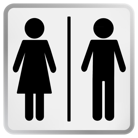 Man   Woman restroom toilet sign  Vector
