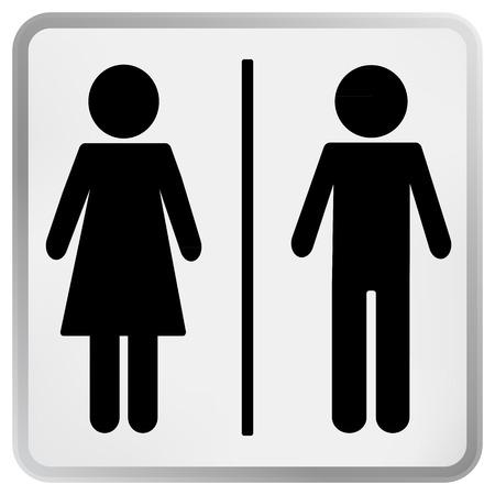 Man   Woman restroom toilet sign  Vector