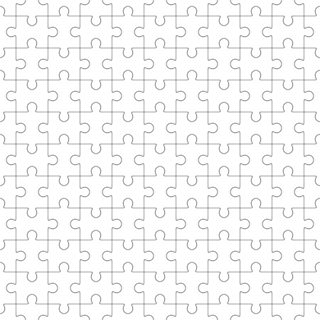 Jigsaw seamless puzzle blank template Vector