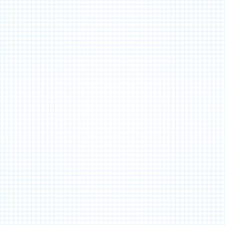White squared paper seamless sheet background. Vector illustration Illustration