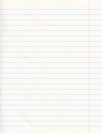 notebook paper background: Notebook Paper Background Stock Photo