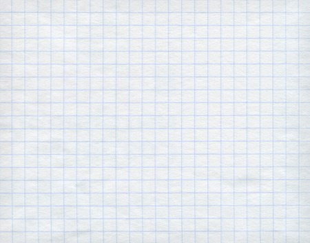 Blue detailed math paper pattern on white background. High resolution image. photo