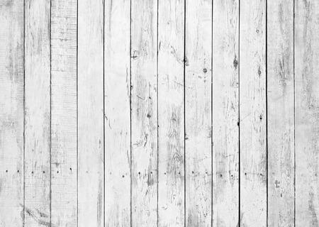 Czarno-białe tło wyblakły malowane drewniane deski