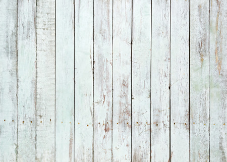 Vintage white wooden wall background