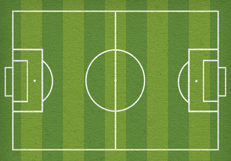 Top view of soccer field or football field - Vector illustration