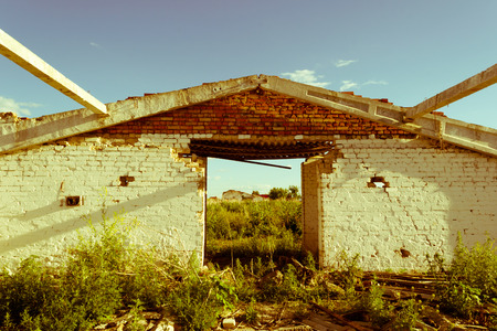 abandonment: Old abandoned building in ruins, evictions and abandonment