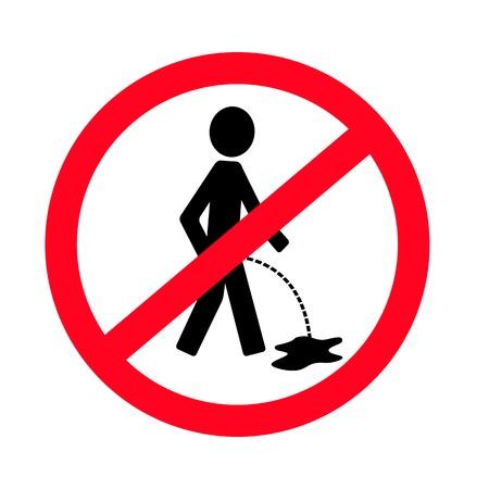 urinate: No pissing sign Illustration