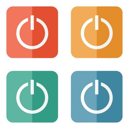 Icono de botón de encendido Start Foto de archivo - 32504028