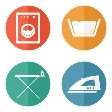Laundry Room Symbols and Icons Vector