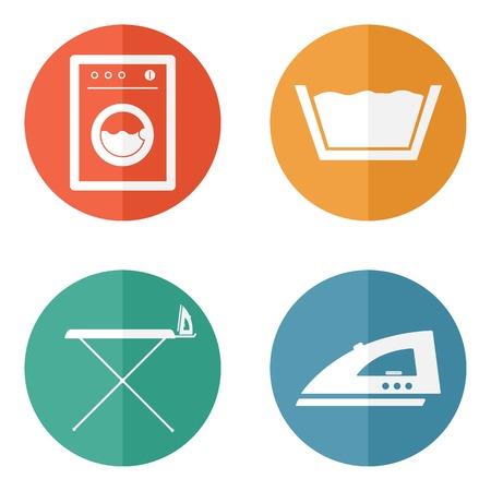 Pokój pralni Symbole i ikony Ilustracja