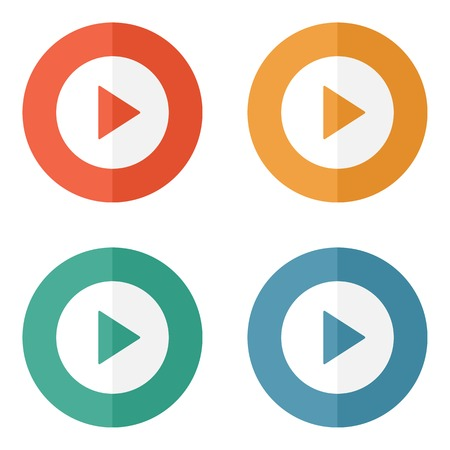 shiny buttons: Play button web icon