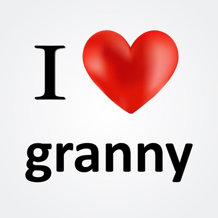 grannie: Card for Grandma i love granny