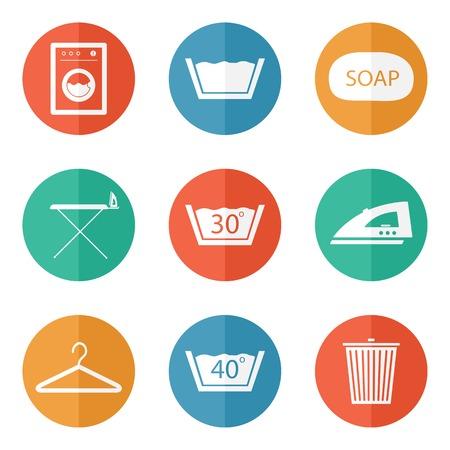 laundry hanger: Iconos de lavander�a