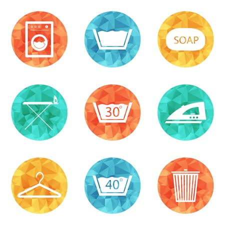 dry cloth: Laundry icons