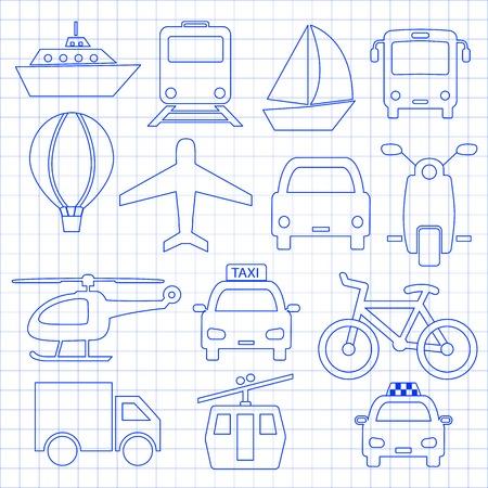 Ikony transportu związane