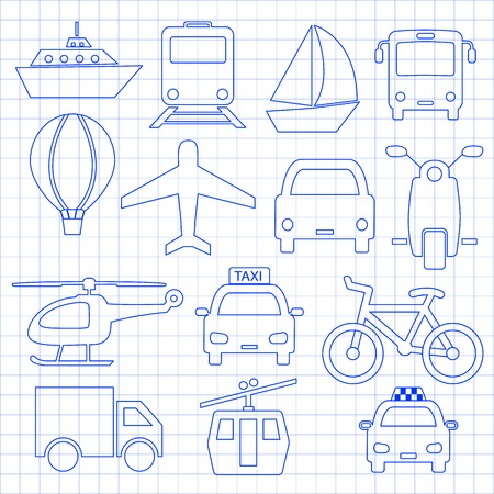 flight mode: Transport related icons