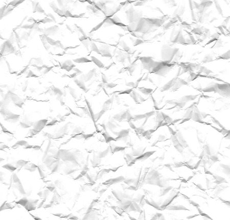 wrinkled paper: White wrinkled paper background texture Stock Photo