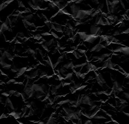 wrinkled paper: Zwarte gerimpelde document textuur als achtergrond