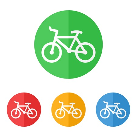 activity icon: Minimalistic simple bicycle or bike icon vector. Illustration