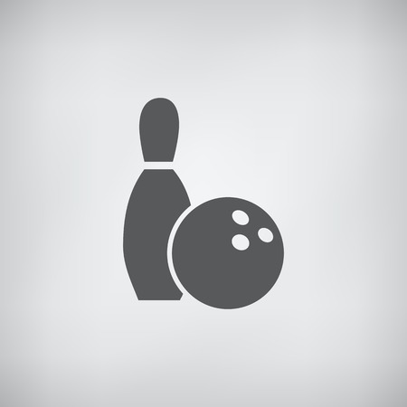 bowling ball: Bowling icon monochrome colors vector Illustration