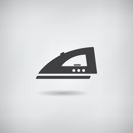 steam iron: Steam iron simple icon. Vector