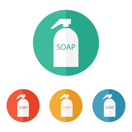 color samples: Hand Soap Icon with Color Samples Illustration