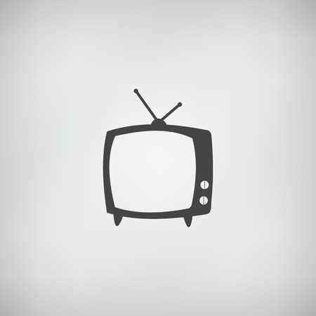 TV icon simple. Vector illustration Vector