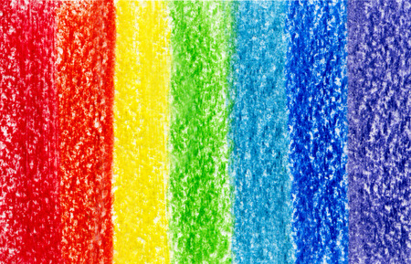 Seven crayon pencil colored paint strokes background photo
