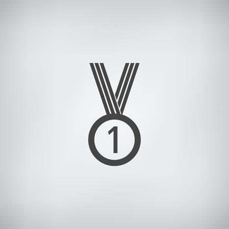 Medal wektor ikona proste płaskim