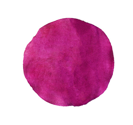 Abstract red or pink  watercolor painted circle isolated on white background photo