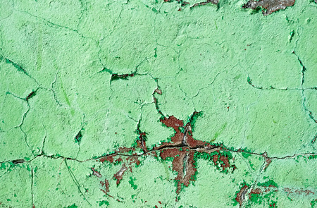 drop ceiling: Green painted damaged grunge wall background or texture
