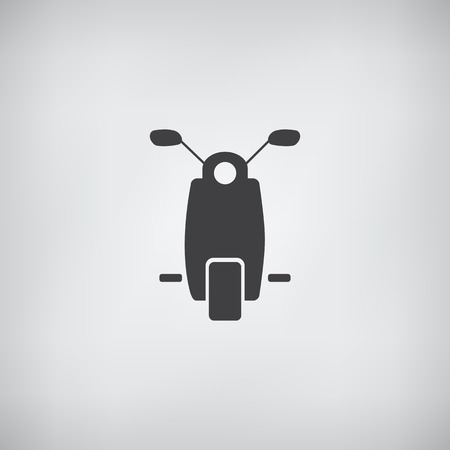 vectore: Moped Or Scooter Icon - Vectore Illustration