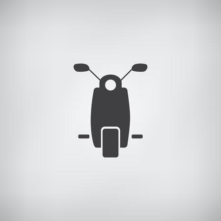 Motorower lub skuter Ikona - vectore Ilustracja