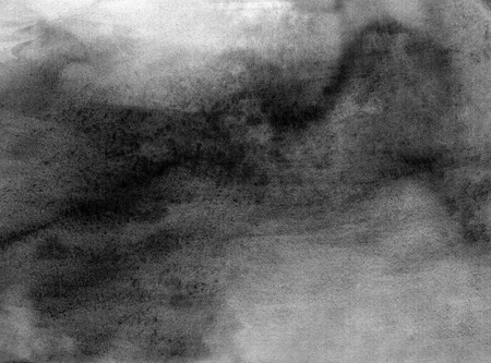 Abstract black and white watercolor light painted background or texture. CLoseup.