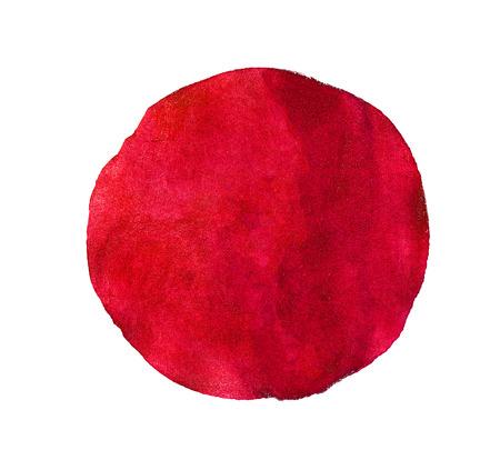 Abstrakt rot oder rosa Aquarell gemalten Kreis isoliert auf weißem Hintergrund