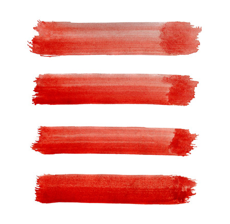 strokes: Watercolor brush strokes background design isolated on white Stock Photo