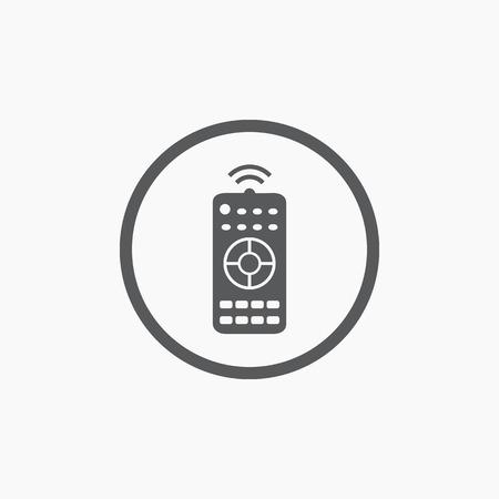 control panel: Pannello di controllo remoto semplice icona piatto isolato
