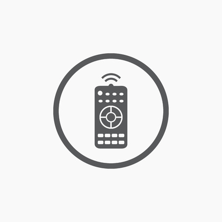 player controls: Remote control panel simple flat icon isolated Illustration