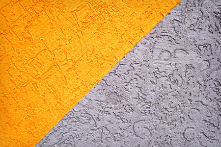 unkept: Grey and orange concrete dirty wall texture or background