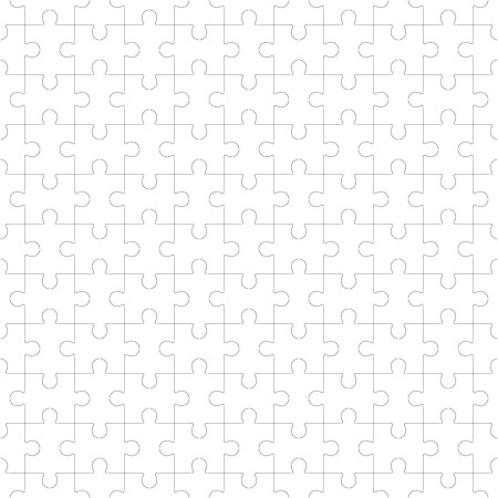 Jigsaw puzzle vector, blank simple template seamless