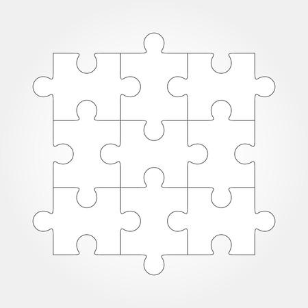 Puzzleleer einfache Vektor, 9 Stück. Stücke sind leicht zu trennen, jedes Stück eine einzige Form ist.